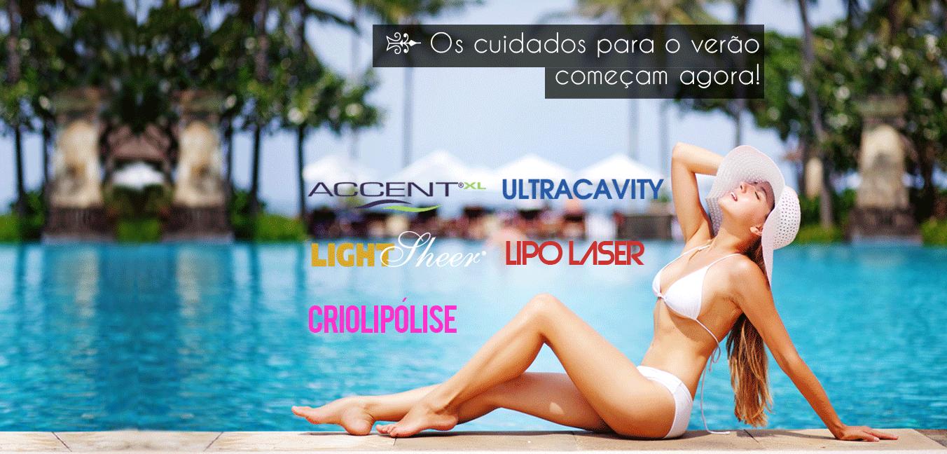 Verão 2016 tratamentos Corpuns - Lipo sem cortes, Lipo Laser, Criolipólise, Accent são tratamentos que você encontra no verão 2016 Corpuns